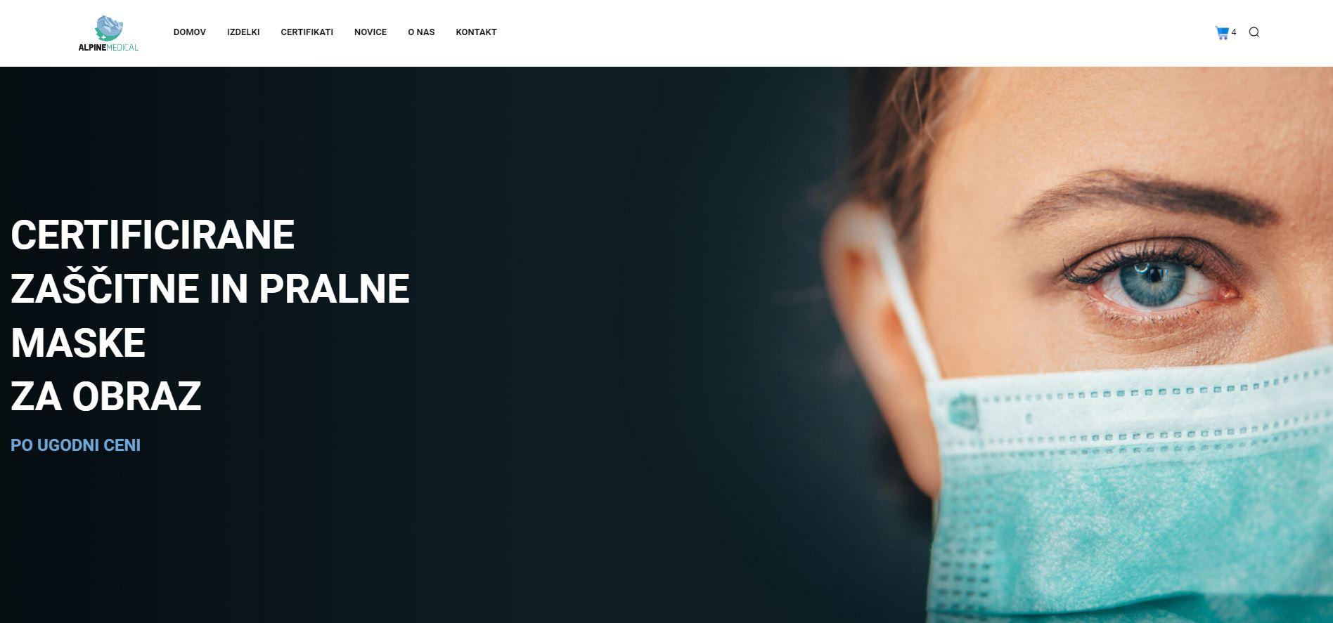 Vzpostavitev spletne trgovine s prodajo zaščitnih mask
